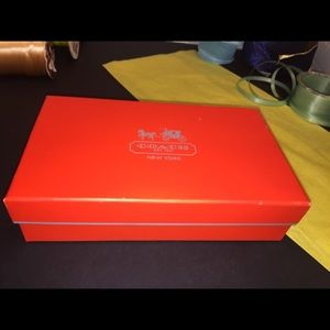 Coach's Red Wallet Box